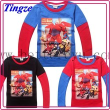 New Products 2015 For Kids Big Hero Creative Cotton Big Hero 6 Tshirts HZB17