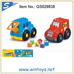 face slide fire truck and friction tow truck toy Building Blocks Car