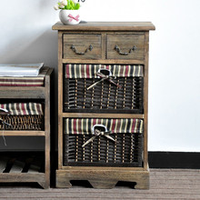 American country style living room cabinet solid wood furniture