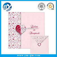 Delicate handmade greeting card example of invitation card from factory
