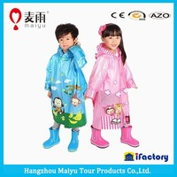 Maiyu EVA children raincoat with school bag cover