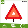 upmarket red reflective custruction warning triangle sign