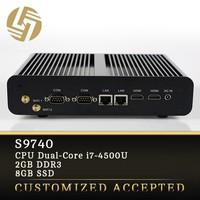 Computer factory direct oem i7-4500U Dual core Turbo Boost 3.0GHz 2G RAM SSD fanless desktop pc