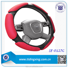 Red color, Bright color steering fabric wheel cover 38CM