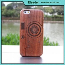 camera design bamboo cover for iphone 6 plus