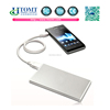 2015 hot selling dual USB aluminium portable power bank charger 10000mah with led torch