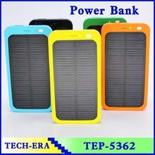 Polymer battery 5000 mah power banks solar type retail gift box customized for 2014 chritsmas holiday