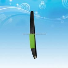 2015 Cosmetic soft grip eyebrow tweezer wholesale