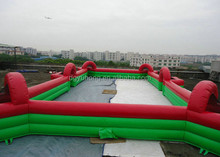 2 Tube high inflatable pitch inflatable soap football field