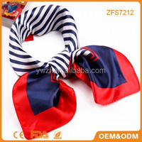 Ladies Small squares scarves Changeable magic scarves stewardesses factory wholesale