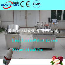 Shanghai No.1 E Smoke Oil / Small Eye Drop Filling, E Liquid Bottle Unscrambler Filling And Capping Line