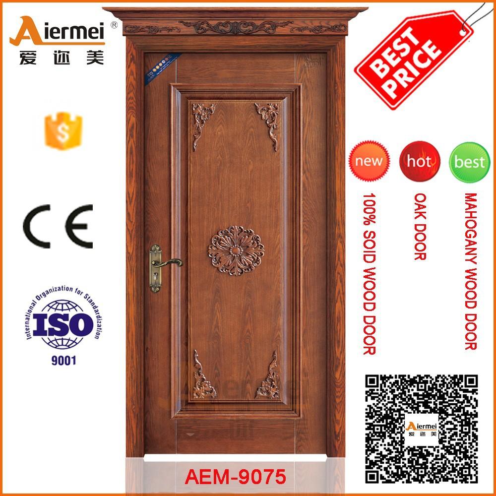 Single wood door design house main front doors of villa for Single door design for home