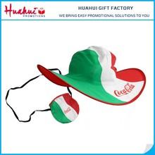 Wholesale High Quality Custom Printed Nylon Foldable Cowboy Hat