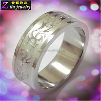 wholesale cheapest fashion jewelry 316L custom bulk sale stainless steel rings