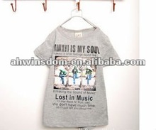 2012 fashion dance boy pure cotton children's T-shirt