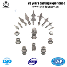ASTM DIN Standard Forged Casted Ornaments Head Material Grey iron and ductile iron Carbon steel