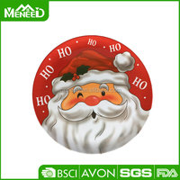 2015 new Christmas holiday dinnerware round cheap melamine santa plate