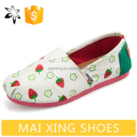 Strawberry Shoes Girl Canvas Shoe For Women Cheap Flats Wholesale