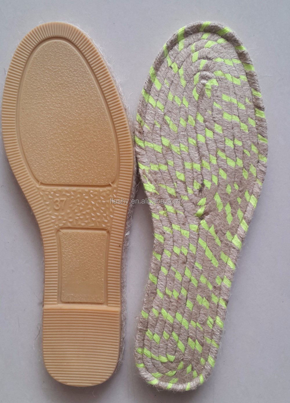 wholesale shoes sole for espadrilles jute outsole shoe
