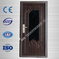 MDF security wooden steel door with safe lock TR-S1218
