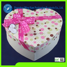 Paper Box Heart Shape Lovely Pink Container/Packaging