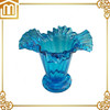 Customized art docoration hand made blown large murano glass vase blue