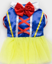 Fashion Pet Halloween Clothing,Pet Snow White Prom Dress,Dog Cosplay Clothes