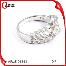 hot sale value 925 silver diamond ring for women weeding jewelry