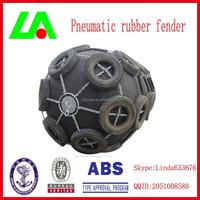 China Shandong LONGAO 0.08MPa Pressure Marine Pneumatic Rubber Fender for Boats