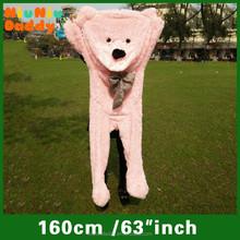 2015 new bear skin adult teddy bear mascot costume