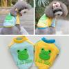Hot Sales Cheap Dog Clothes Pet Cartoon Frog Add Wool T-shirts Dog Plain T-shirt