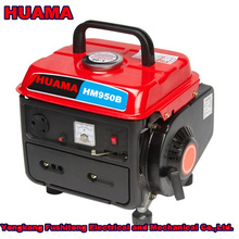 china small cheap portable gasoline generator TG950 with handle/with frame for home use
