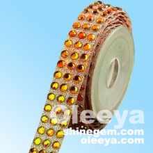 hot sales! high quality hot fix rhinestones belts tapes factory for dresses hat