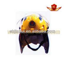 safety helmet with mesh visor and polycarbonate visor