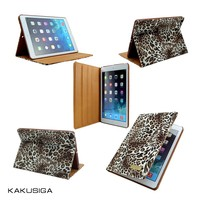 KAKU professional tablet case manufacture for the newest smart leopard case for ipad 4/air/mini 2