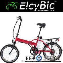 2015 China 20Inch 36V 10AH lithium battery 250W Electric Bike Folding (E-TDH039D red)