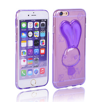 Multifunctional cute rabbit ears holder animal cell phone case for iphone 5/6/6s