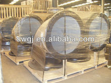 China ductile iron flanged bend fitting 600*90deg PN16