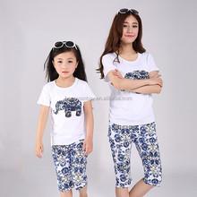 puro cotone non sbiadiscono vestiti per madre e figlia stampato elefante immagine