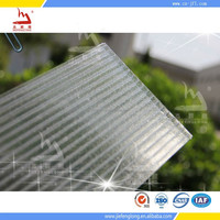 high quality polycarbonate hollow sheet for bus shelters and car shelters