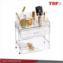 Multi tiers acrylic&metal cosmetic display for cosmetic,jewelry,commodity