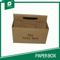 BEVERAGE INDUSTRY HIGH QUALITY BROWN KRAFT PAPER BOX FOR PACKING BOTTLE JUICE