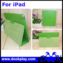 Plain Case for iPad 4 Flip Book Leather Cover for iPad4