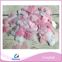 PInk and White party paper heart shape confetti throwing paper confetti