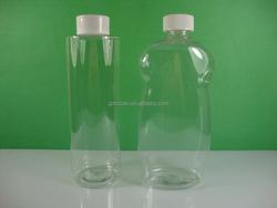 Clear PET shampoo bottle wtih lid