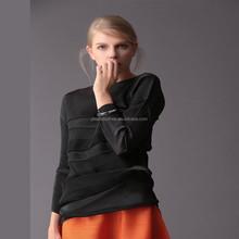 منتجات جديدة ملابس امرأة 2015 كبير الحجم طويل الأكمام عارضة الطيات بلوزة السيدات الموضة يرجى زائد حجم الملابس