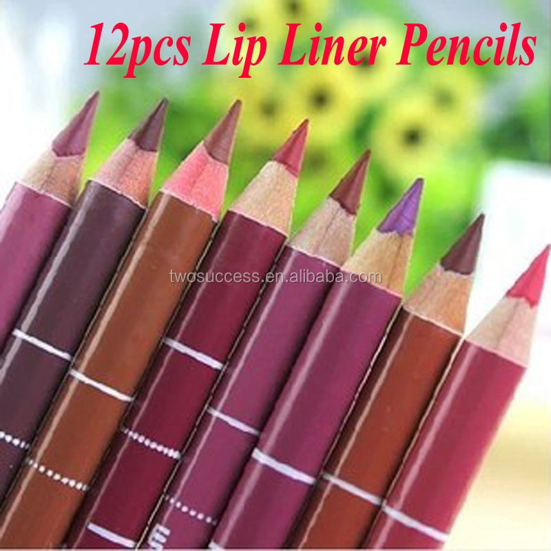 Women-s-Professional-Lipliner-Waterproof-Lip-Liner-Pencil-15CM-12-Colors-Per-Set-Hot-2015