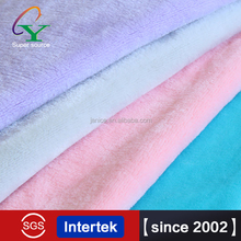 2015 New arrival 100% polyester solid colour double flannel fleece fabrics yard for winter wedding dress inquiry now