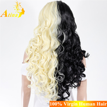 China Distributors Wholesale High Quality Cosplay Wig Cheap Heat Resistant Fibre Synthetic Hair Wig With Swiss Lace