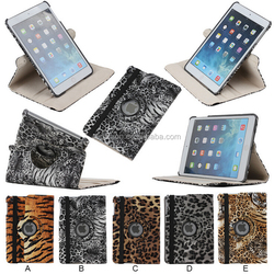 For iPad mini 360 degree rotating leather case leopard skin cover